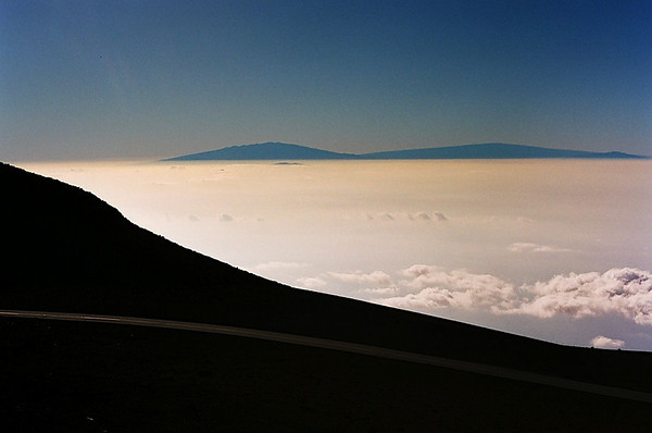 Big Island Peaks from Haleakala, Maui