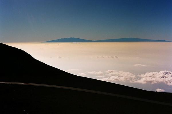 Big Island Peaks from Haleakala, Maui